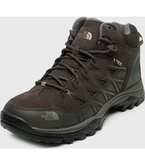 zapatilla m storm iii mid wp marrón the north face