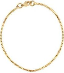 pulseira delicada veneziana 18k lys lazuli feminina - feminino