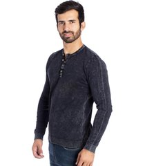 camiseta basic button le tisserand black stoned