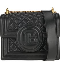 balmain b-bag 21 quilted crossbody bag