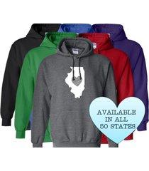 illinois hoodie sweatshirt love home heart unisex men women state
