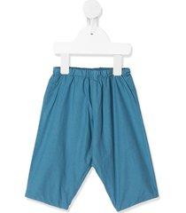 bonpoint poplin trousers - blue
