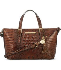brahmin mini asher melbourne embossed leather satchel