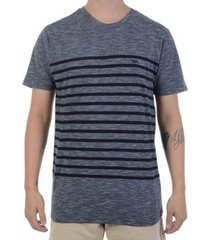 rvca camiseta rvca dean stripe preta - chumbo / gg - masculino