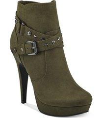 gbg los angeles deeka platform dress booties women's shoes
