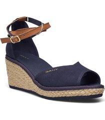 wedgeville wedge san sandalette med klack espadrilles blå gant