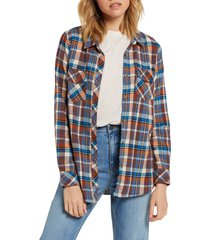 plus size women's volcom getting rad plaid top, size x-small - red