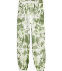 tall green tie dye sweatpants - green