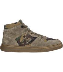 scarpe sneakers alte uomo in camoscio h365