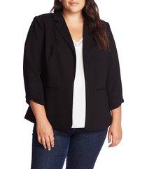 plus size women's cece knit blazer, size 1x - black