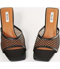 na-kd shoes högklackade skor i mesh - black