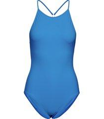 tie-back swimsuit baddräkt badkläder blå filippa k soft sport