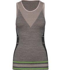hmlgemma seamless top t-shirts & tops sleeveless grå hummel