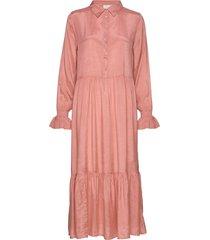 kathea midi dress knälång klänning rosa kaffe