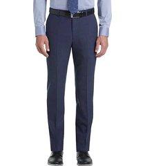 joe joseph abboud men's medium blue slim fit dress pants - size: 38w