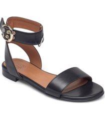 sandals 2756 shoes summer shoes flat sandals svart billi bi