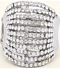 anillo cerrado con cristales uni