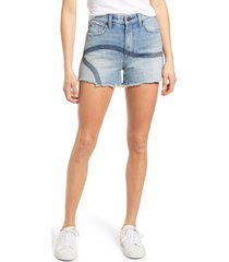 7 for all mankind (r) high waist cutoff denim shorts, size 27 in topanga at nordstrom