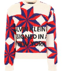 calvin klein pullover with star intarsia
