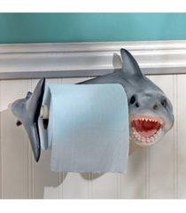 design toscano shark attack bathroom toilet paper holder bedding