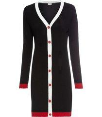 abito in maglia con bottoni (nero) - bodyflirt boutique
