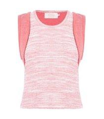 blusa feminina top artisan - rosa