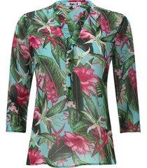blusa flores hawaianas color rosado, talla s