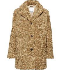 natja jacket 11105 outerwear faux fur bruin samsøe & samsøe