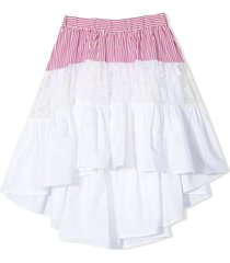 monnalisa white cotton skirt
