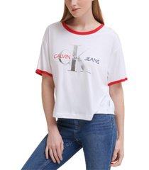 calvin klein jeans americana logo t-shirt