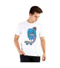 camiseta ouroboros manga curta blue ghost skater