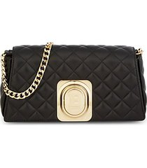 signet quilted leather convertible clutch