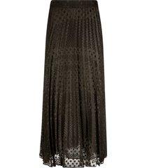 polka-dot pleated lace skirt