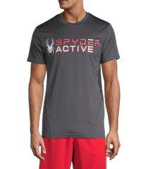 spyder men's graphic short sleeve t-shirt - blazing black - size m