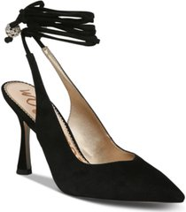 sam edelman women's harvie ankle-tie pumps women's shoes
