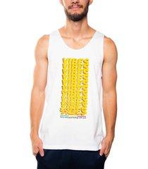 camiseta mxc brasil regata vibes branco - branco - masculino - dafiti