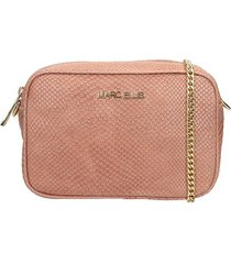 marc ellis zoe clutch in powder leather