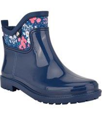 martha stewart x easy spirit women's sprinkle rain booties women's shoes