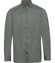 lightweight flannel shirt - contemporary fit overhemd business grijs eton