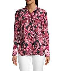lindy paisley silk blouse