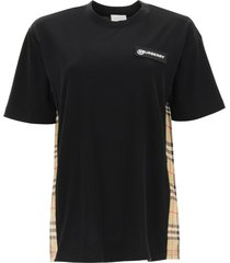 burberry carrick t-shirt with tartan inserts