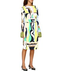 emilio pucci dress marilyn emilio pucci dress with vallauris and fringes print