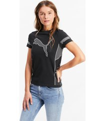 evostripe evoknit knitted t-shirt voor dames, zwart/aucun, maat s | puma