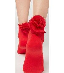 calzedonia appliqué ankle socks woman pink size tu