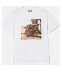 camiseta manga curta com estampa yoda | star wars | branco | g