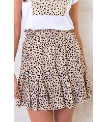 cheetahprint rok beige