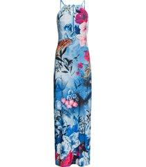 abito estivo lungo a fiori (blu) - bodyflirt boutique