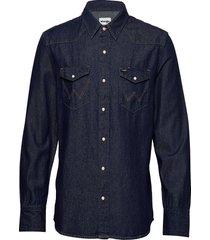 27mw icon shirt overhemd casual blauw wrangler