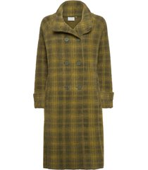 knitted coat wollen jas lange jas groen coster copenhagen