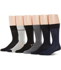 perry ellis men's 6-pk speed dry printed socks